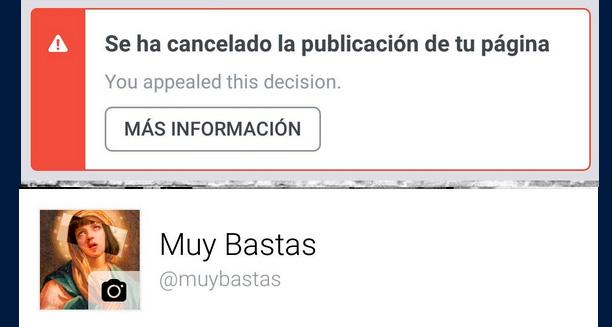 Facebook censura a Muy Bastas por difundir mensajes feministas