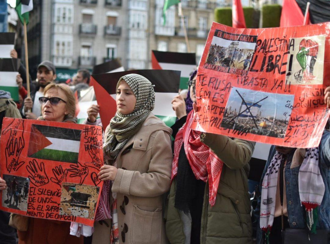 Sarraskia Gazan, Palestinarekin elkartasuna nazioartean