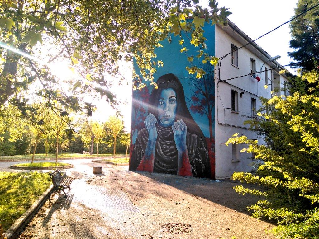 Nicole Salgarren mural berria Errekaleorren, emakumeen borroka ardatz hartuta
