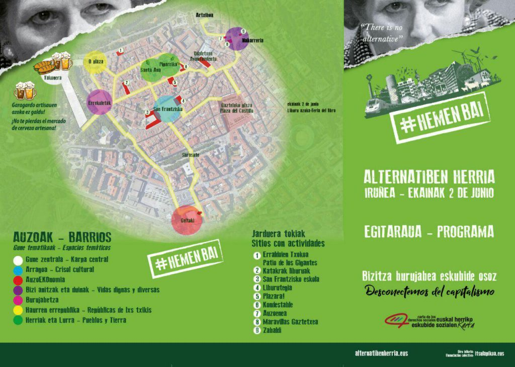 Alternatiben herria, 2 de junio en Iruñea