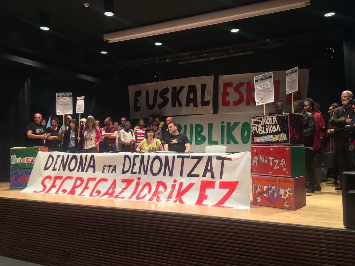 Sei eskaera nagusi eta manifestazioa ostiralean; Euskal Eskola Publikoa kalera aterako da