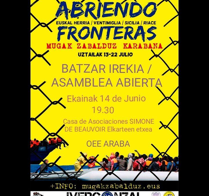 """El 13 de julio partirá la caravana """"Mugaz zabalduz-Abriendo fronteras"""""""