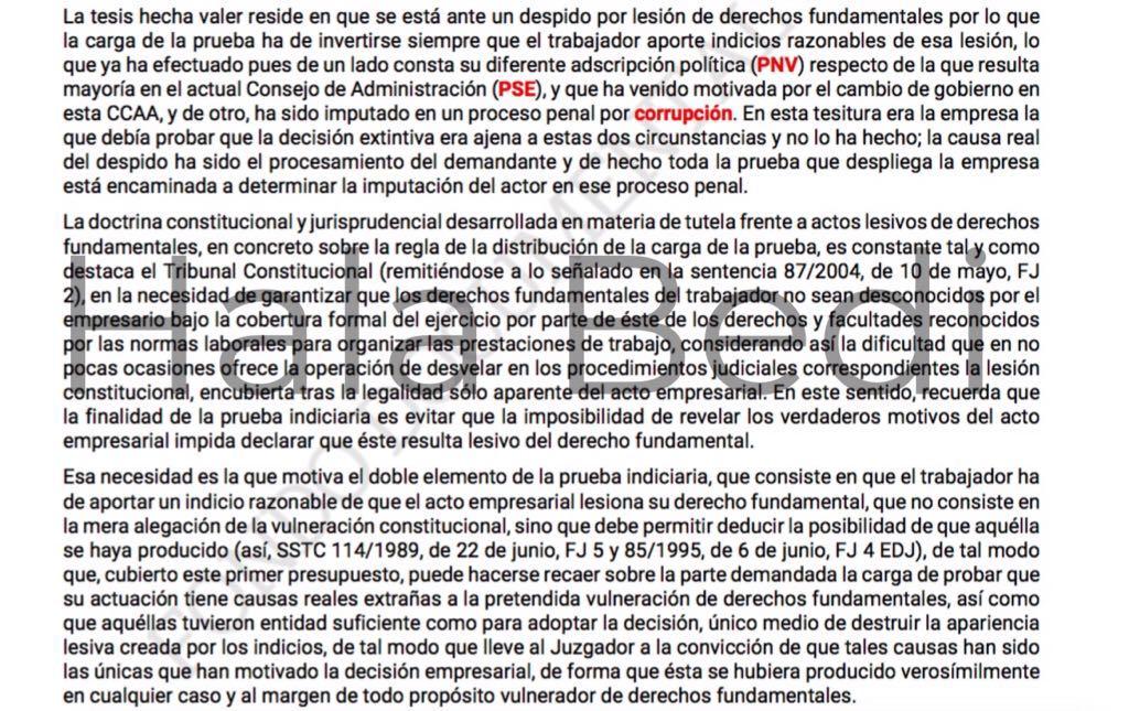 """Tres militantes del PNV imputados por corrupción recibieron 170.000 euros en indemnizaciones por """"despido improcedente"""""""