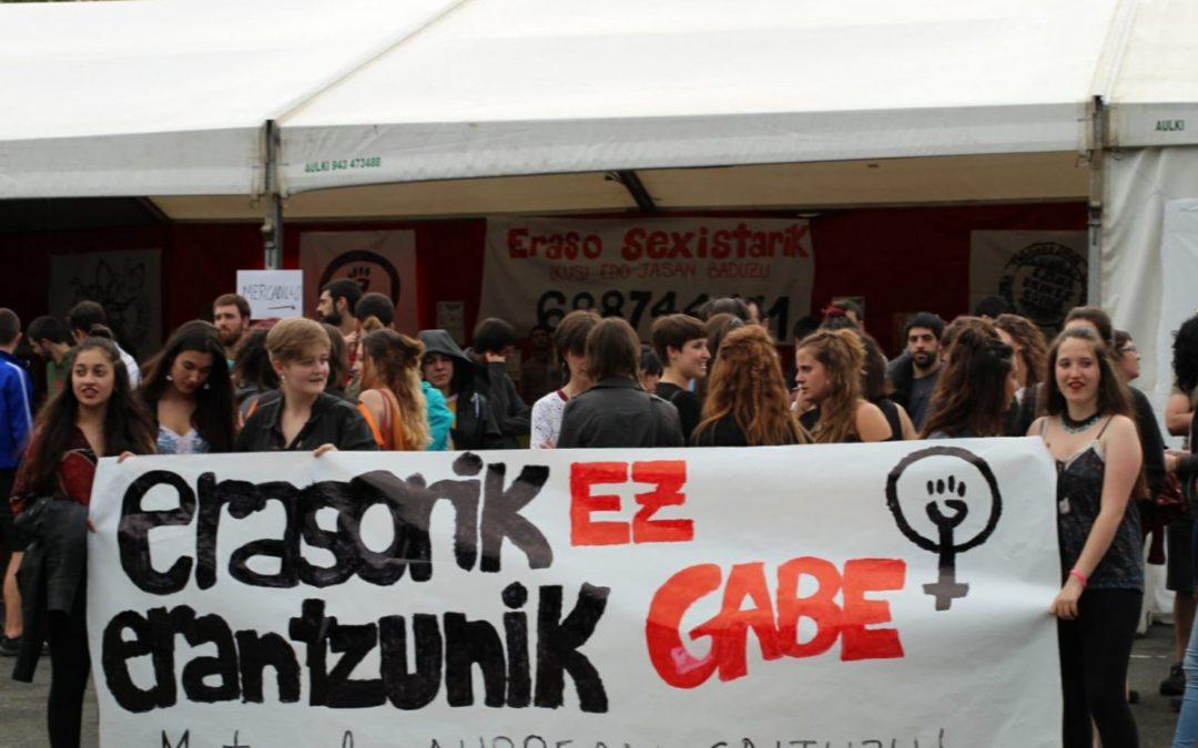 Autodefentsa feministarekin erantzun diote Txagoko erasoari