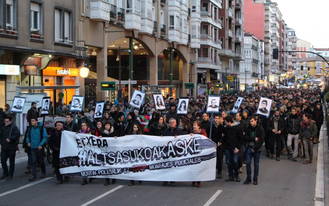 Convocan una concentración en Gasteiz para denunciar la sentencia contra los jóvenes de Altsasu