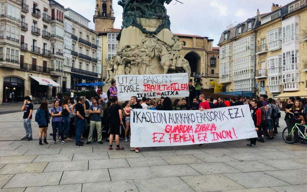 Repulsa a la última operación de la Guardia Civil en Gasteiz