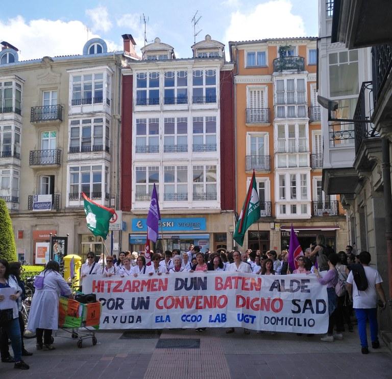 Huelga indefinida de las trabajadoras de Ayuda a Domicilio de Araba a partir del 15 de septiembre
