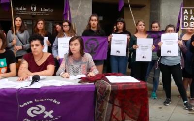 Eraso matxisten aurkako protokoloa plazaratu du Bagara Nor talde feministak