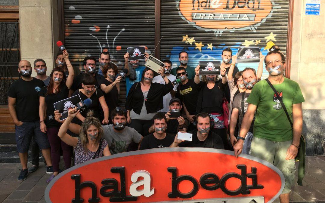 """El Gobierno Vasco suspende """"cautelarmente"""" la multa al periodista de Hala Bedi sancionado con la Ley Mordaza"""