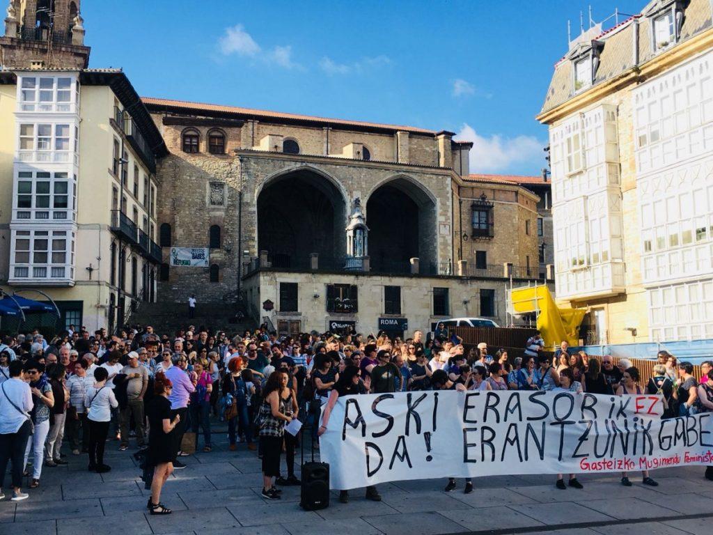 El Movimiento Feminista de Gasteiz activa el protocolo contra las agresiones sexistas