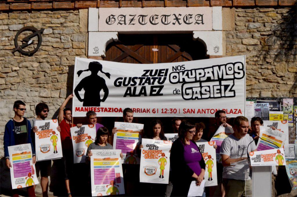 OkupaTU Gasteiz mantiene la oferta cultural y la comida y llama a movilizarse la mañana del 6 de octubre