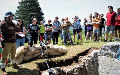 Gerra Zibilean San Pedro mendian aritu zen euskal frontea ikertzeari ekingo dio arkeologo talde batek