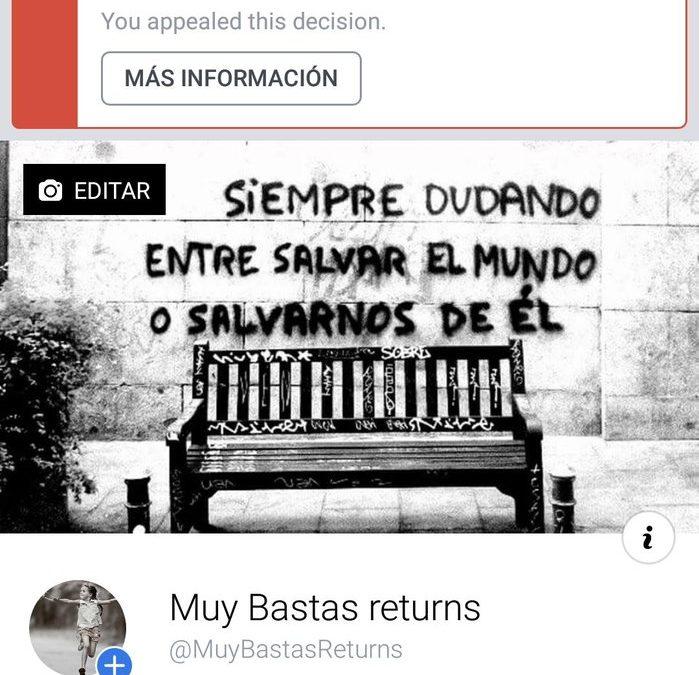 Facebook cierra la cuenta alavesa de Muy Bastas por tercera vez en siete meses