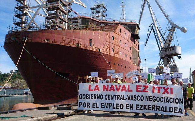 """Mikel Etxebarria (ELA): """"La Naval bideragarria da, babes publikoa behar du soilik"""""""