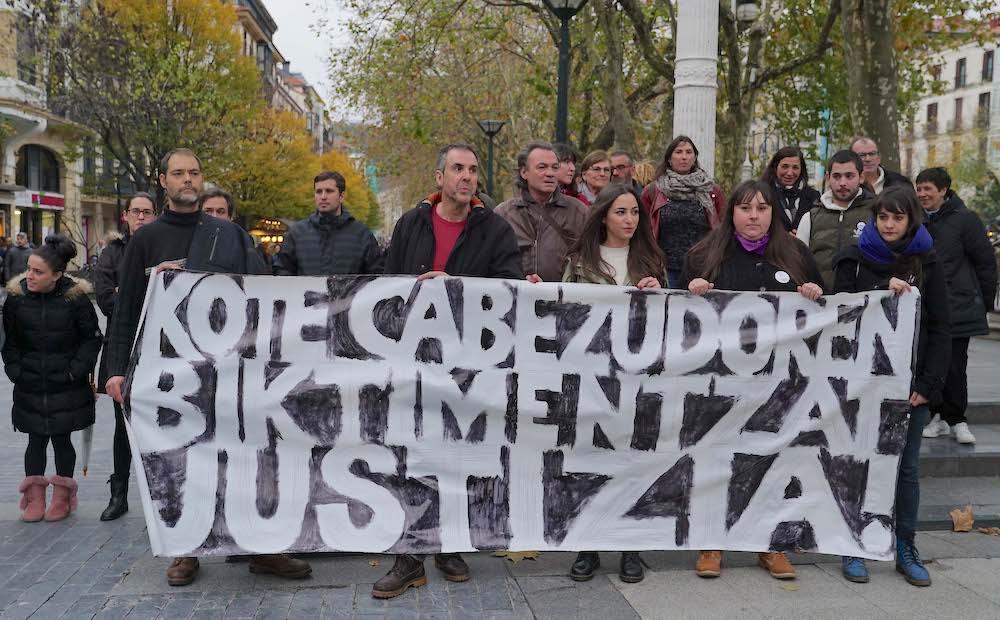 """Kote Camacho (K. C.k Erasotuentzat Justizia): """"Boteretsuek ez dute Kote Cabezudo kartzelara sartzea nahi"""""""