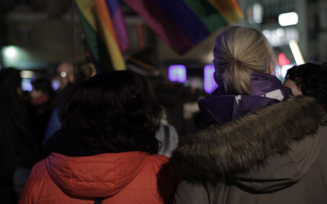 Las feministas de Gasteiz también salen a la calle en solidaridad con las mujeres andaluzas