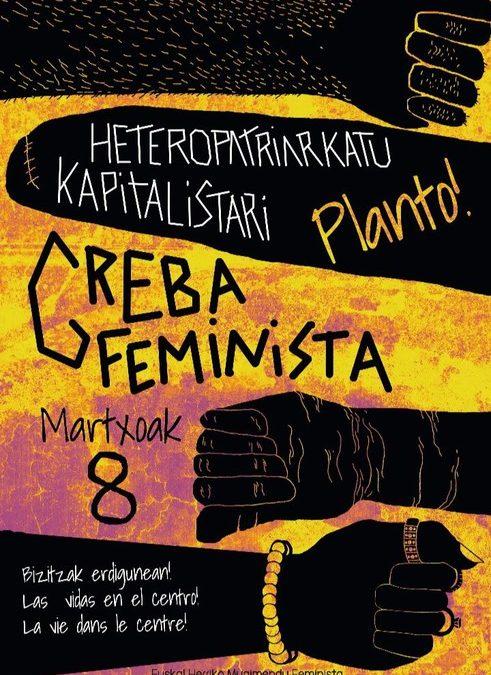 Huelga feminista del 8 de marzo, planto al heteropatriarcado capitalista