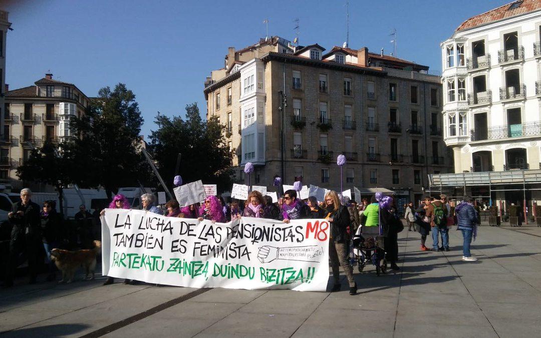 Emakume pentsionistak ere Greba Feministara doaz