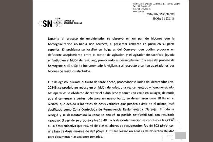 50 litro lokatz erradioaktibo isuri dira Garoñan