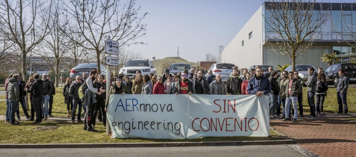 Las empresas de Ingeniería del Grupo Aernnova están sin convenio en el Parque Tecnológico de Miñano