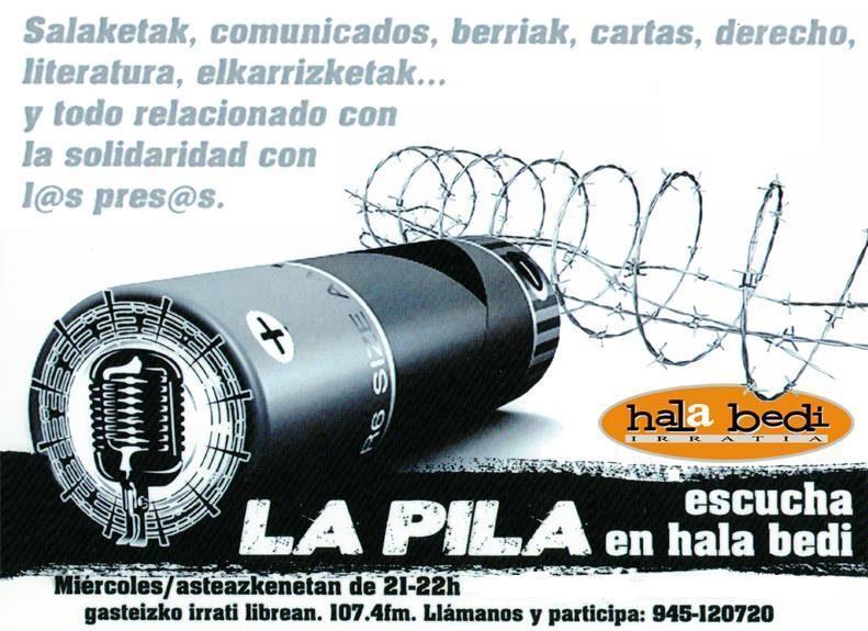 LA PILA. MONOGRÁFICO ENERO.  Información y Noticias de la situación de las personas privadas de libertad