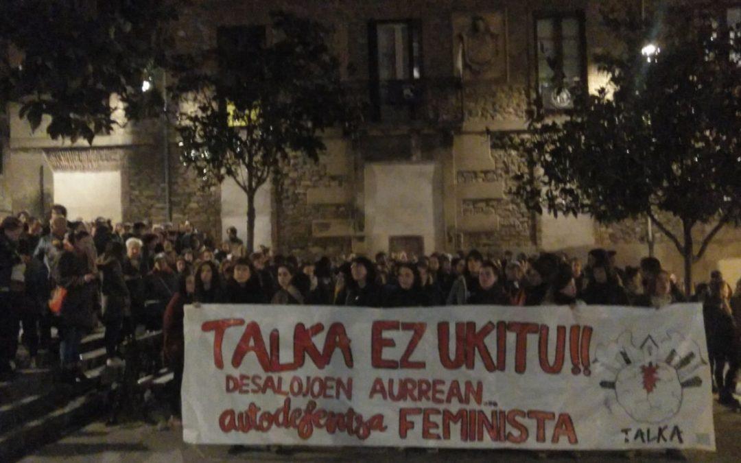 Llamamiento a la autodefensa feminista para denunciar el desalojo de TALKA