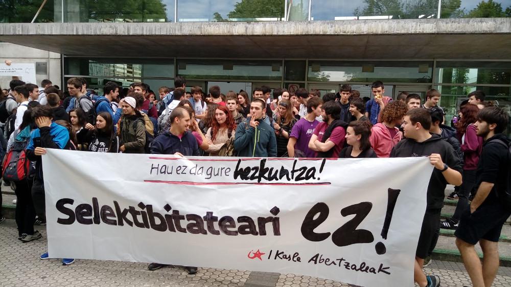 Selektibitatearen aurkako mobilizazioak deitu ditu Ikasle Abertzaleak