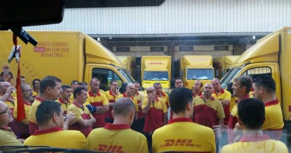 Greba  mugagabea  egingo  dute  Aguraingo  DHL  enpresan