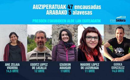 Convocan  una  asamblea  para  empezar  a  trabajar  el  juicio  contra  cinco  alavesas  por  su  trabajo  en  defensa  de  los  derechos  de  las  personas  presas