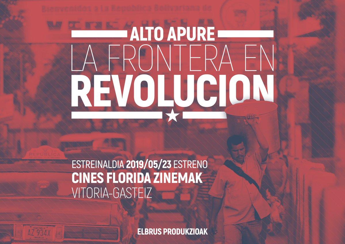 El  documental  'Alto  apure,  la  frontera  en  revolución'  del  alavés  Ibai  Trebiño  se  estrena  en  Gasteiz