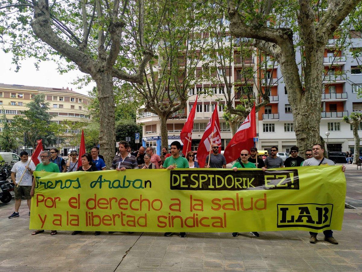 Frenos  Arabako  delegatuaren  kaleratzea  salatu  du  LAB  sindikatuak