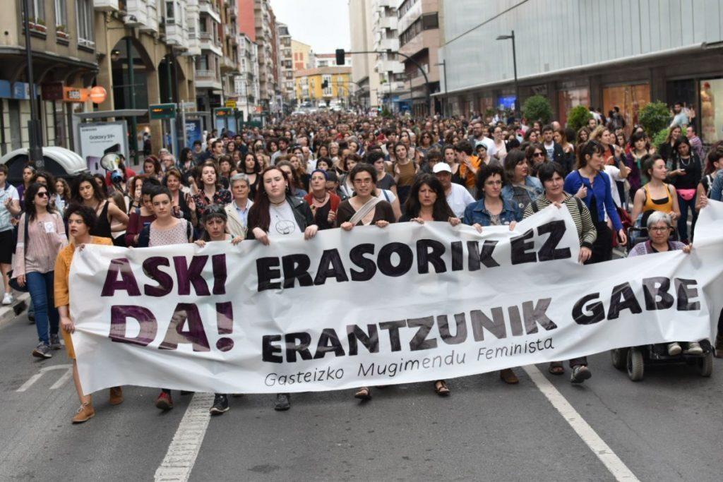 El Movimiento Feminista de Gasteiz activa el protocolo y convoca una concentración