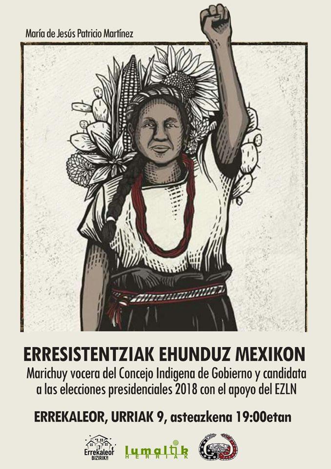 """""""Tejiendo  resistencias  en  Mexico""""  con  Marichuy"""