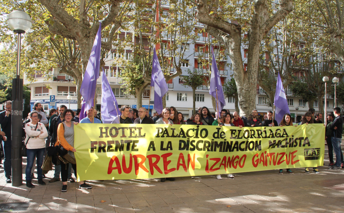 LAB  denuncia  la  discriminación  sexista  a  una  trabajadora  del  Hotel  Palacio  de  Elorriaga