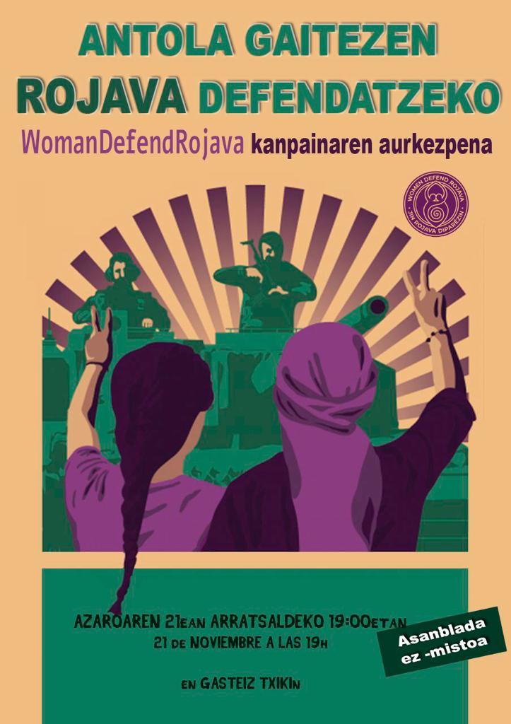 Woman Defend Rojava kanpainaren aurkezpena