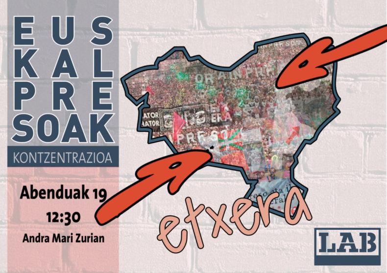 'Euskal Presoak etxera' kontzentrazioa