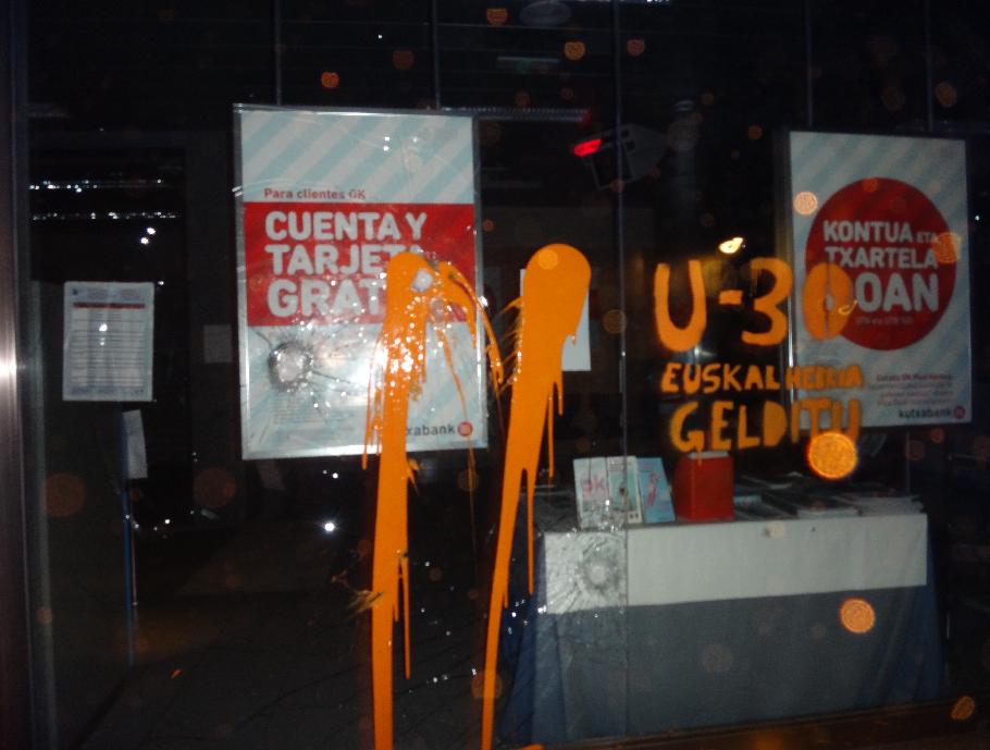 Urtarrilaren 30ean Euskal Herria gelditzeko deia egin dute Araiako Kutxabanken aurkako ekimenean