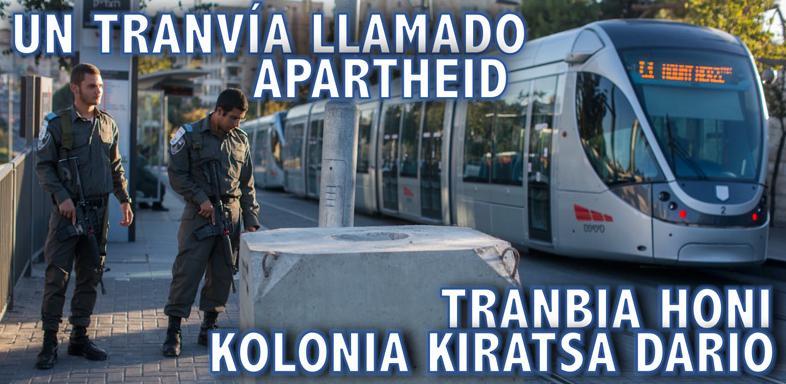 """Alaitz Amundarain (BDZ-Gasteiz): """"Ilegala da Jerusalemen egin nahi duten tranbia"""""""