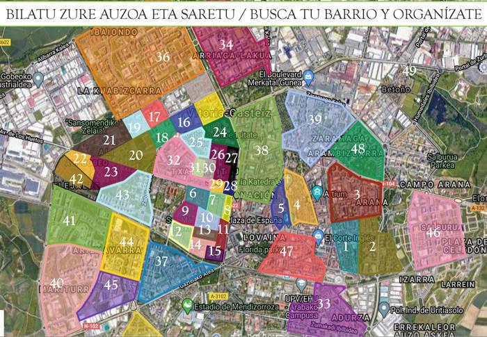 La red BATERA cumple una semana de actividad y ha conseguido organizarse en 50 puntos de Gasteiz