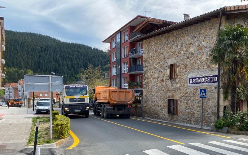 Aprovechan para empezar las obras del TAV en Atxondo (Bizkaia)