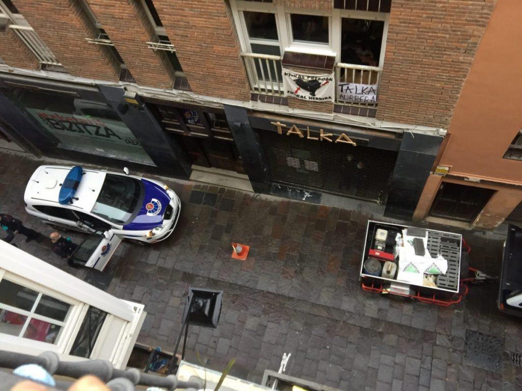Dos personas han sido detenidas en un nuevo intento de desalojar TALKA