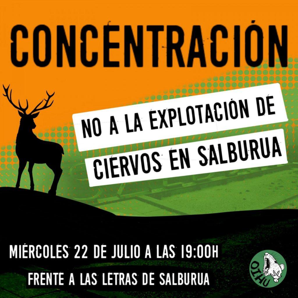 Convocan una concentración en contra de la explotación de ciervos en Salburua