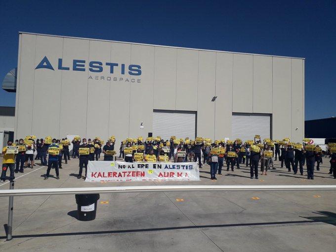 La plantilla de Alestis rechaza los despidos de manera contundente