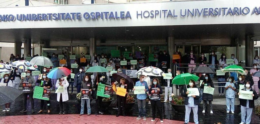 Ospitaleko langileen mobilizazioa: «Honaino heldu gara!»