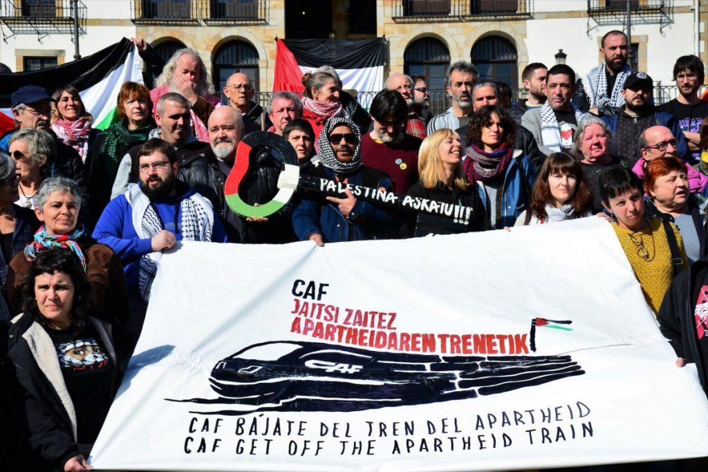 CAF enpresa beasaindarrak Jerusalemen eraiki behar duen trenaren aurka mobilizatuko dira bihar Gasteizen