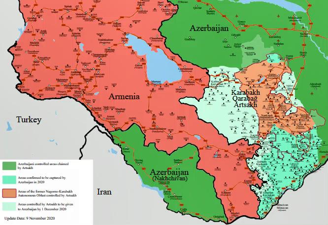 Alto al fuego entre Azerbaiyán y Armenia