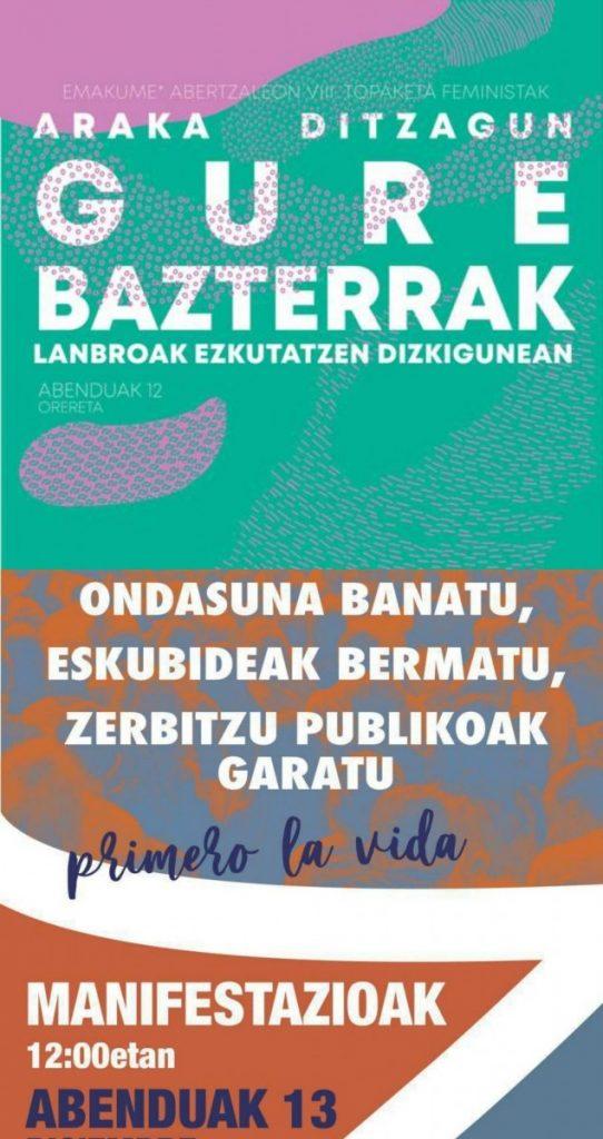 8 | Emakume* Abertzaleon VIII. Topaketa feministak eta Euskal Herriko Eskubide Sozialen Karta