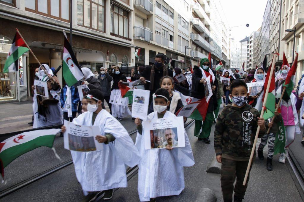 ARGAZKI GALERIA | Saharar herriak bizi duen ankerkeria salatu dute Sahara-Gasteiz elkarteak deitutako manifestazioan