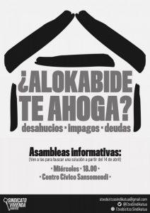 """Karla Pisano (Etxebizitza Sindikatua): """"Asko dira Alokabiderekin lotuta heltzen diren kasuak, etxegabetze ilegalak, kontratuen baldintzak aldatzea eta abar"""""""