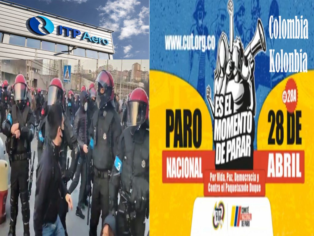 Programa KLA-HLA de 17 de Abril de 2021, Zigor Aispiolea e ITP-Aero, Paro Nacional 28 Abril Kolonbian, Arraigo, David Rodríguez.